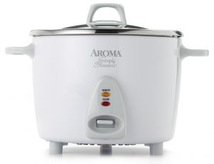 Aroma Housewares ARC-753SG rice cooker in a white finish