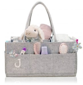Portable changing table organizer bag