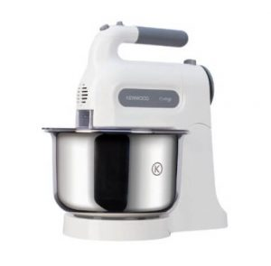 Kenwood Chefette HM680 hand mixer stand with a metal bowl