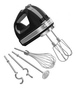 KitchenAid KHM926 black hand mixer