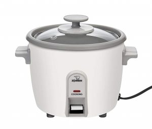 Zojirushi NHS-06 simple rice cooker with a white finish