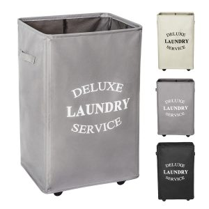 WOWLIVE Large Rolling Laundry Hamper