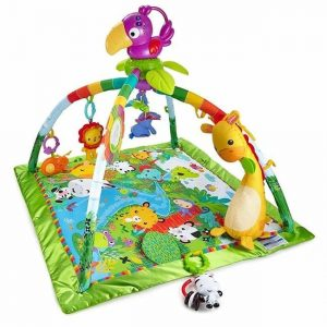Jungle themed baby play mat with lights and sounds