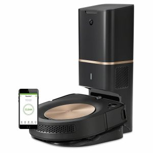 iRobot Roomba S9+ robot vacuum and charging station
