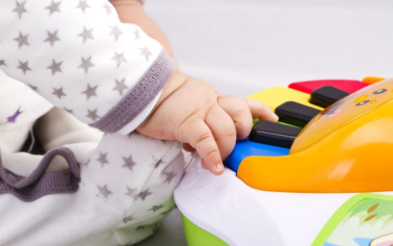 Baby play mats with piano