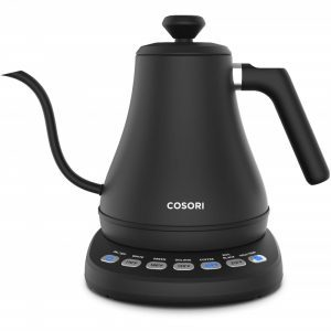 Cosori stylish black gooseneck electric kettle