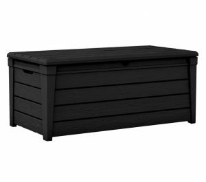 Black 120-Gallon Patio Seat Bench