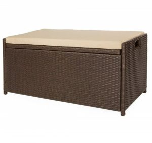 Victoria Young Deck Storage Bench with a cushioned seat