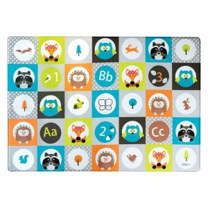 Bblüv baby play mat in multiple colors and with funny animal themed pieces