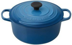 Le Creuset Signature blue Dutch oven