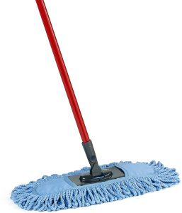 O-Cedar Dual-Action floor mop with a red handle