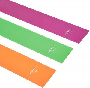 Resistance bands in multiple colors