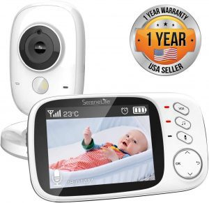 Video baby monitor with a large screen