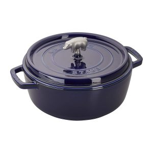 Staub cast iron Dutch oven with enamel coating