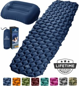 HiHiker Camping Sleeping Pad + Inflatable Travel Pillow