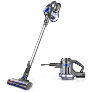 MOOSOO XL-618A stick vacuum and handheld vacuum for carpeted stairs
