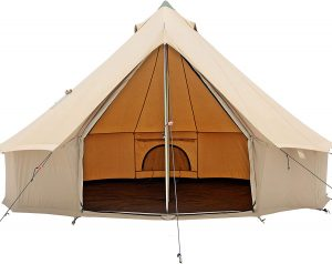 Large canvas cabin tent