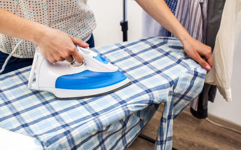 ironing in a small space
