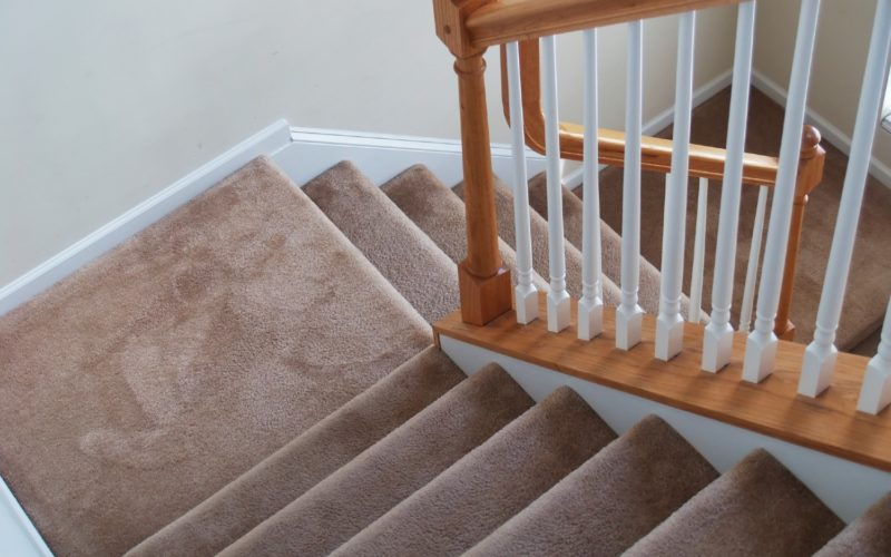 Here's a set of stairs cleaned by a lightweight vacuum