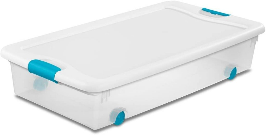 Sterilite plastic drawers for under the bed
