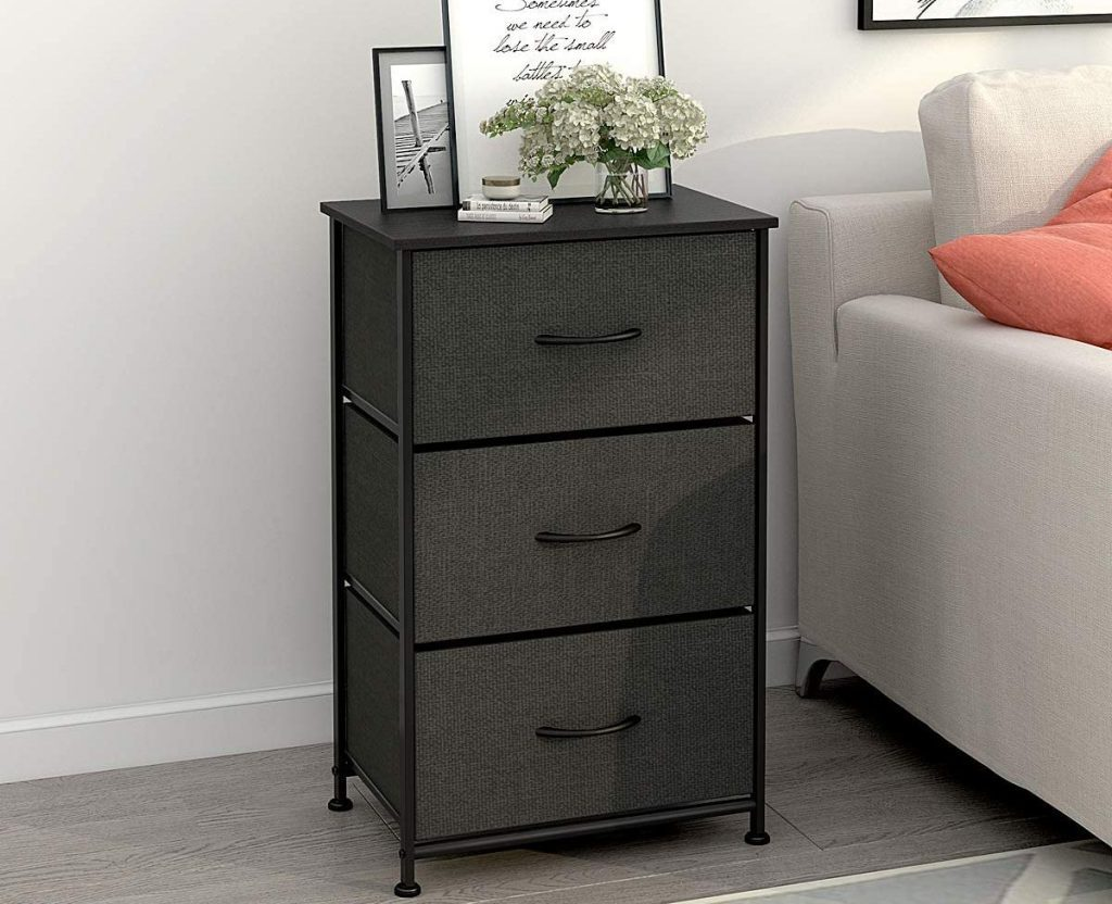 Nightstand with 3 drawers for storage