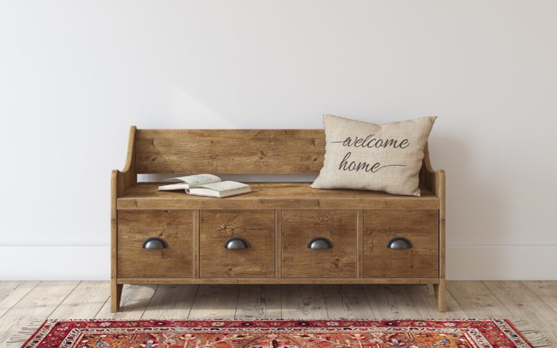 Beautiful wooden storage bench