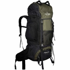 A backpack with a frame