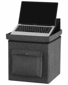 Multi-purpose laptop stand and storage box
