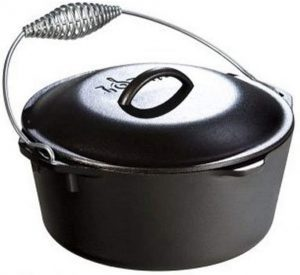 Lodge Cast Iron Dutch Oven With Bail Handle