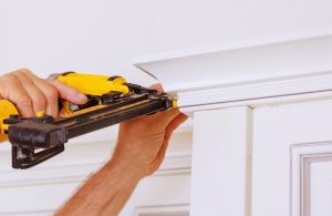 Brad nailer used for white ceiling trims