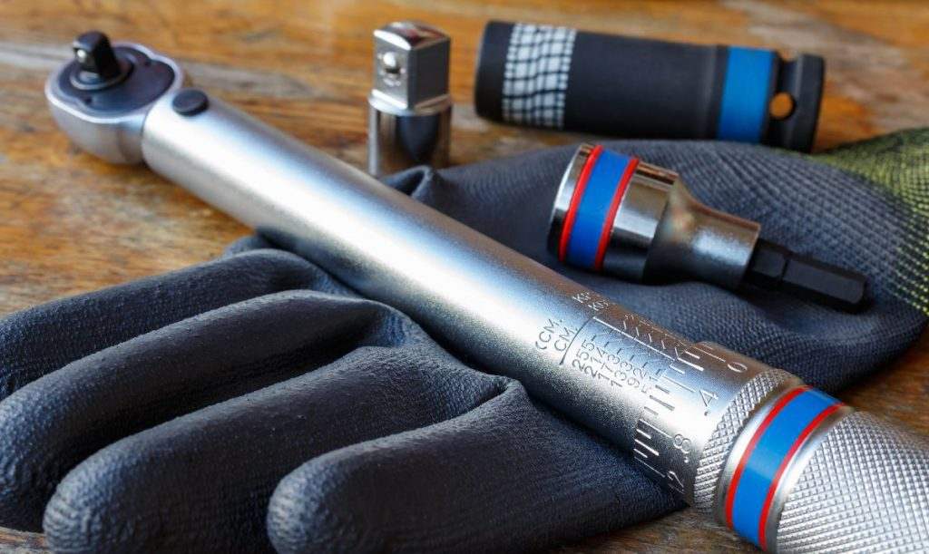 Torque wrench on a glove