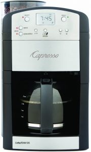 Capresso 464.05 CoffeeTeam GS 10-Cup Drip Coffee Maker with Conical Burr Grinder, Glass Carafe