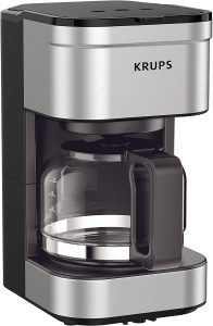 KRUPS Simply Brew Compact Filter Drip Coffee Maker, 5-Cup Capacity, Silver