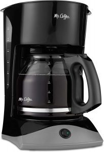 Mr. Coffee 12-Cup Coffee Maker, Black and Gray