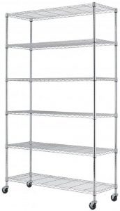 SafeRacks NSF 6-Tier Wire Shelving Rack With Wheels